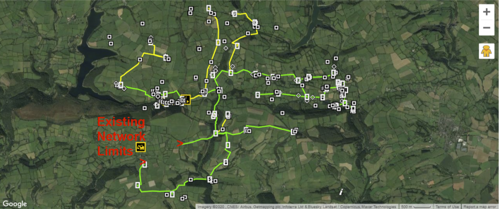 Upton & Huish Planned Routes